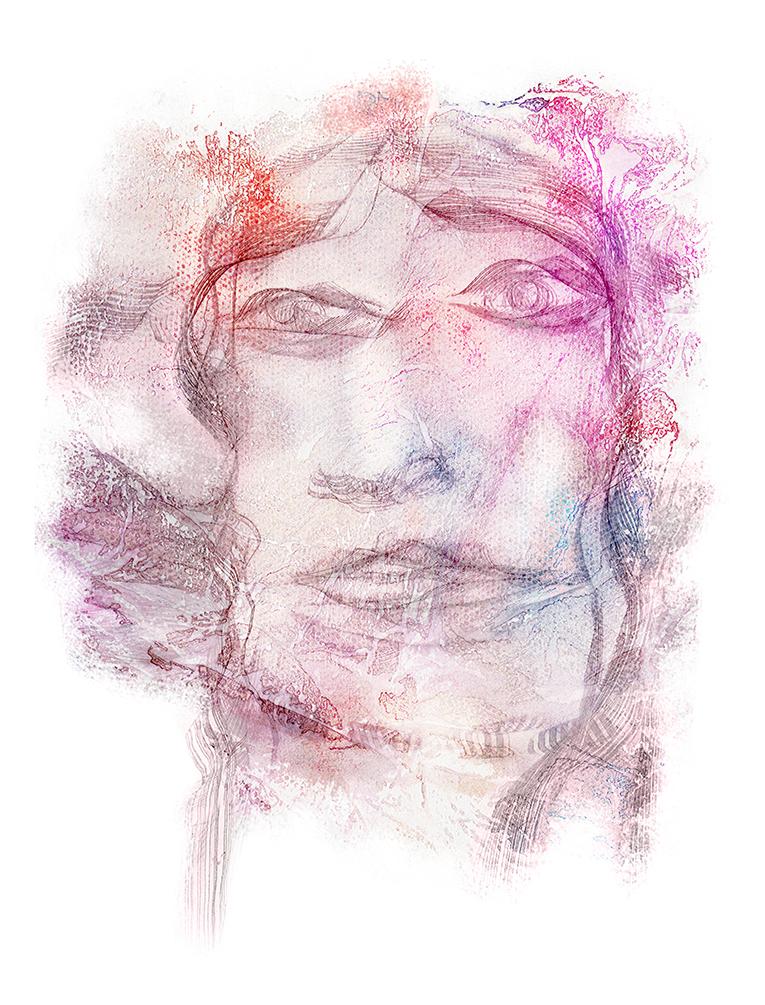 Portrait de Chloé - Artiste Peintre Yannick Le Quilleuc