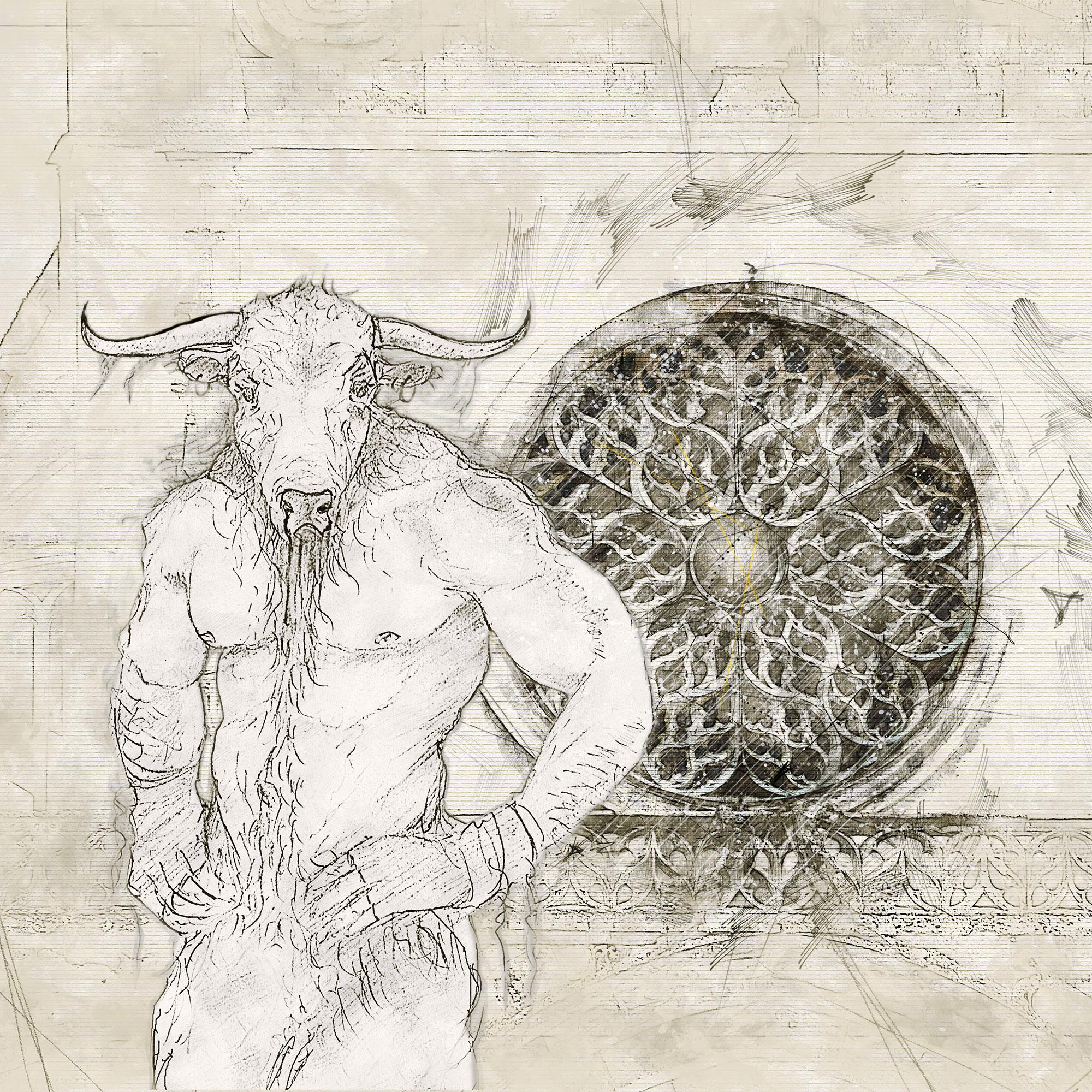 Bazas - Le minotaure et la rosace