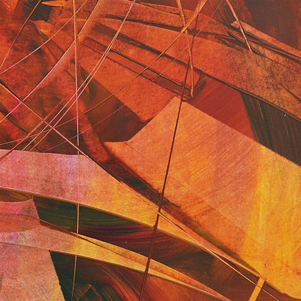 tableau abstrait de l'artiste peintre Yannick Le Quilleuc